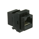 CableWholesale 326-220BK Cat6 Keystone Inline Coupler, Black, RJ45 Female