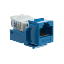 CableWholesale 327-120BL Cat6 Keystone Jack, Blue, Toolless, RJ45 Female