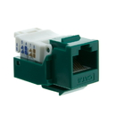 CableWholesale 327-120GR Cat6 Keystone Jack, Green, Toolless, RJ45 Female