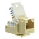CableWholesale 327-120IV Cat6 Keystone Jack, Beige/Ivory, Toolless, RJ45 Female