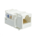 CableWholesale 327-120WH Cat6 Keystone Jack, White, Toolless, RJ45 Female