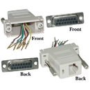 CableWholesale 32D1-18400 Modular Adapter, Gray, DB15 Female to RJ45 Female