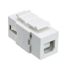 CableWholesale 333-310 Keystone Insert, White, USB 2.0 Type A Female To Type B Female Adapter (Reversible)