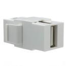 CableWholesale 333-320 Keystone Insert, White, USB 2.0 Type A Female Coupler