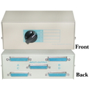 CableWholesale 40D3-17604 ABCD 4 Way Switch Box, DB25 Female