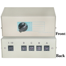 CableWholesale 40R2-01604 ABCD 4 Way Switch Box, RJ45 Female