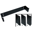 CableWholesale 68BP-1002U Rackmount Hinged Wall Mounting Bracket, 2U, Dimensions: 3.5 (H) x 19 (W) x 4 (D) inches