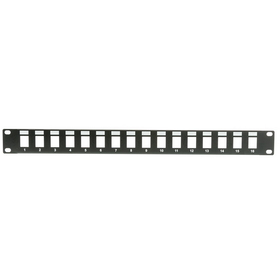 CableWholesale 68PB-01016 Rackmount 16 Port Blank Keystone Patch Panel, 1U