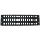 CableWholesale 68PB-02048 Rackmount 48 Port Blank Keystone Patch Panel, 3U