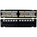 CableWholesale 68PP-03012-10 Wall Mount 12 Port Cat5e Patch Panel, 110 Type, 568A & 568B Compatible, 10 inch