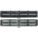 CableWholesale 68PP-03048 Rackmount 48 Port Cat5e Patch Panel, Horizontal, 110 Type, 568A & 568B Compatible, 2U