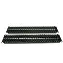 CableWholesale 68PP-03096 Rackmount 96 Port Cat5e Patch Panel, Horizontal, 110 Type, 568A & 568B Compatible, 4U