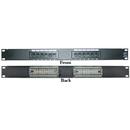 CableWholesale 69BK-06012 Rackmount 12 Port Cat6 Patch Panel, Horizontal, 110 Type, 568A & 568B Compatible, 1U