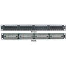 CableWholesale 69BK-06024 Rackmount 24 Port Cat6 Patch Panel, Horizontal, 110 Type, 568A & 568B Compatible, 1U