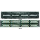 CableWholesale 69BK-06048 Rackmount 48 Port Cat6 Patch Panel, Horizontal, 110 Type, 568A & 568B Compatible, 2U