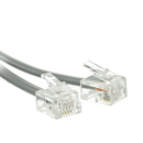 CableWholesale 8101-64207 Telephone Cord (Voice), RJ11, 6P / 4C, Silver Satin, Reverse, 7 foot