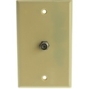 CableWholesale ASF-20251 TV Wall Plate with 1 F-pin Coupler, Ivory