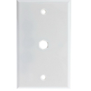 CableWholesale ASF-20254WH Wall Plate, 1 hole for F-pin Connector, White