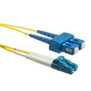 CableWholesale LCSC-01215 Fiber Optic Cable, LC / SC, Singlemode, Duplex, 9/125, 15 meter (49.2 foot)