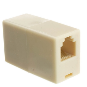CableWholesale MC-6P6C-RE Inline Telephone Coupler (Voice), RJ12, 6P / 6C