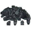 CableWholesale SR-8P8C-BK RJ45 Strain Relief Boots, Black, 50 Pieces Per Bag