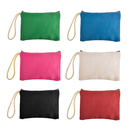 Aspire 12PCS Multicolor DIY Canvas Zipper Pouch, Party Favor Pouch, 6 11/16 x 4 3/4 Inch