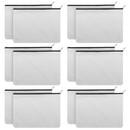 Aspire 1 Dozen Canvas Pouch with Zipper, DIY Fabric Bag, 6 11/16 x 4 5/16 Inch