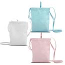 Aspire 6PCS DIY Canvas Cross Body Pouch for Kids, Shoulder Purse, Blank Travel Bag