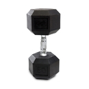 CAP Barbell Hex Dumbbells With Rubber Head & Contoured Chrome Handle - 60 LB. (Price/each)