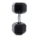 CAP Barbell Hex Dumbbells With Rubber Head & Contoured Chrome Handle - 65 LB. (Price/each)