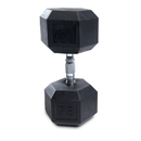 CAP Barbell Hex Dumbbells With Rubber Head & Contoured Chrome Handle - 75 LB. (Price/each)