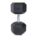 CAP Barbell Hex Dumbbells With Rubber Head & Contoured Chrome Handle - 80 LB. (Price/each)