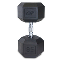 CAP Barbell Hex Dumbbells With Rubber Head & Contoured Chrome Handle - 85 LB. (Price/each)