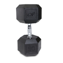 CAP Barbell Hex Dumbbells With Rubber Head & Contoured Chrome Handle - 95 LB. (Price/each)