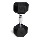 CAP Barbell Hex Dumbbells With Rubber Head & Contoured Chrome Handle - 20 LB. (Price/each)
