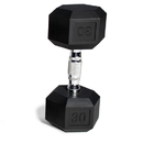 CAP Barbell Hex Dumbbells With Rubber Head & Contoured Chrome Handle - 30 LB. (Price/each)