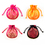 "Aspire Silk Brocade Pouch with Drawstring, Wedding Favor Bags, 4"" x 4-1/3"", Assorted Colors, Wholesale Lot, Price/20 Pcs"
