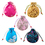 "Aspire Silk Brocade Pouch with Drawstring, Wedding Favor Bags, 4-3/4"" x 5-1/2"", Assorted Colors, Wholesale Lot, Price/20 Pcs"