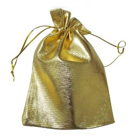 """Aspire Drawstring Jewelry Pouches, Favor Bags, Size 2"""" x 2-3/4"""" - Gold, Pack of 200"""