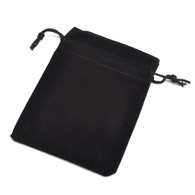 "Aspire Black Velvet Drawstring Pouch, Favor Bags, 3-1/2"" x 4-3/4"", Pack of 100"