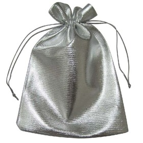 "Aspire Jewelry Pouches, Drawstring Gift Bags, Wedding Favor Bags, 4"" x 4-3/4""- Silver, Price/200 Pieces"