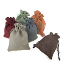 Aspire Burlap Drawstring Pouches, Favor Gift Bag, 5 x 6-3/4 Inch (120 PCS)