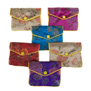 Aspire Brocade Jewelry Pouches, Zipper Purse, Favor Bag, 4 x 4-3/4 Inch (120 PCS)