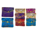 Aspire 48 Pieces Chinese Silky Zippered Pouch, Gift Bags - Comes in 2 Sizes