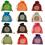 Aspire Burlap Pouches / Gift Bags, Nice Colors Value Set, 4-1/2 x 5-1/2 Inch (24 Pcs)