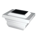 Classy Caps SL078W 4X4 White Regal Solar Post Cap