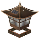 Classy Caps SL094 4X4/3.5X3.5 Copper Ambience Solar Post Cap