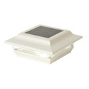 Classy Caps SL211W 4X4 White Aluminum Imperial Solar Post Cap