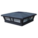 Classy Caps SLC771 6X6 Black Aluminum Cambridge Solar Post Cap, Black
