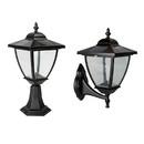 Classy Caps SML556 Black Aluminum Elegante Solar Lamp